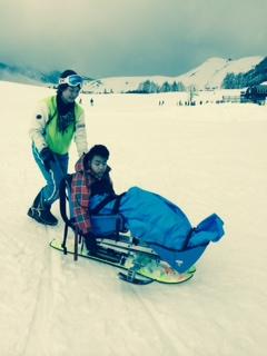 初スキー♪